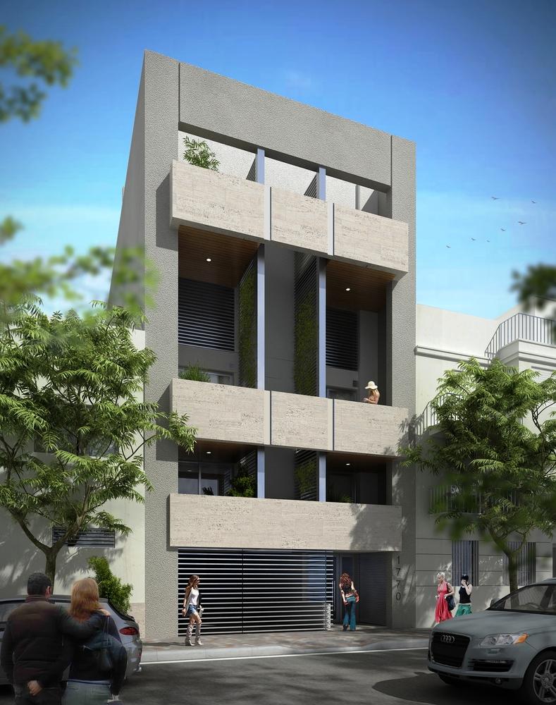 Edificio de vivienda multifamiliar manuela pedraza 1770 fachada en ejecuci  n